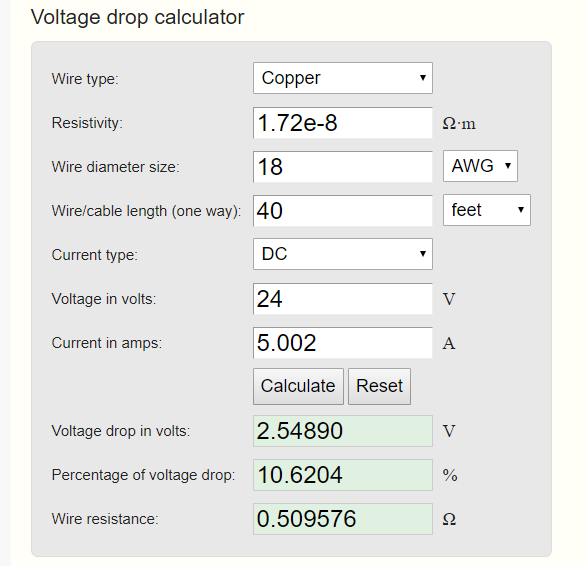 Online voltage drop calculator 4