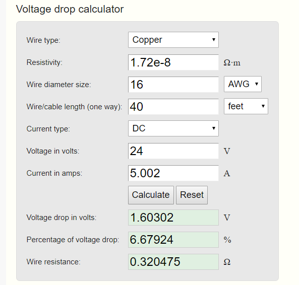 Online voltage drop calculator 5
